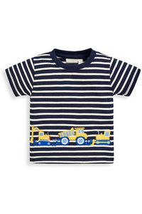 SS DIGGERS APLQ STRIPE TEE