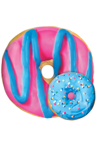 BLUE & PINK DONUT SCENTED PILLOW