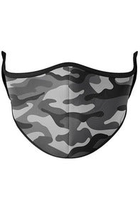 GREY CAMO FACE MASK (3-7Y)