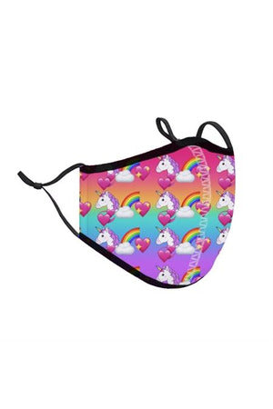 UNICORN RAINBOW FACE MASK (3-7Y)