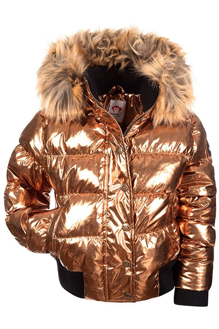 LS KYLA METALLIC PUFFER COAT
