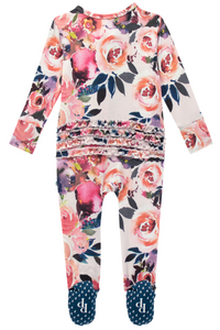 DUSK ROSE RUFFLE FOOTIE