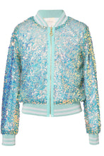 Load image into Gallery viewer, LS IRIDESCENT SEQUIN BOMBER
