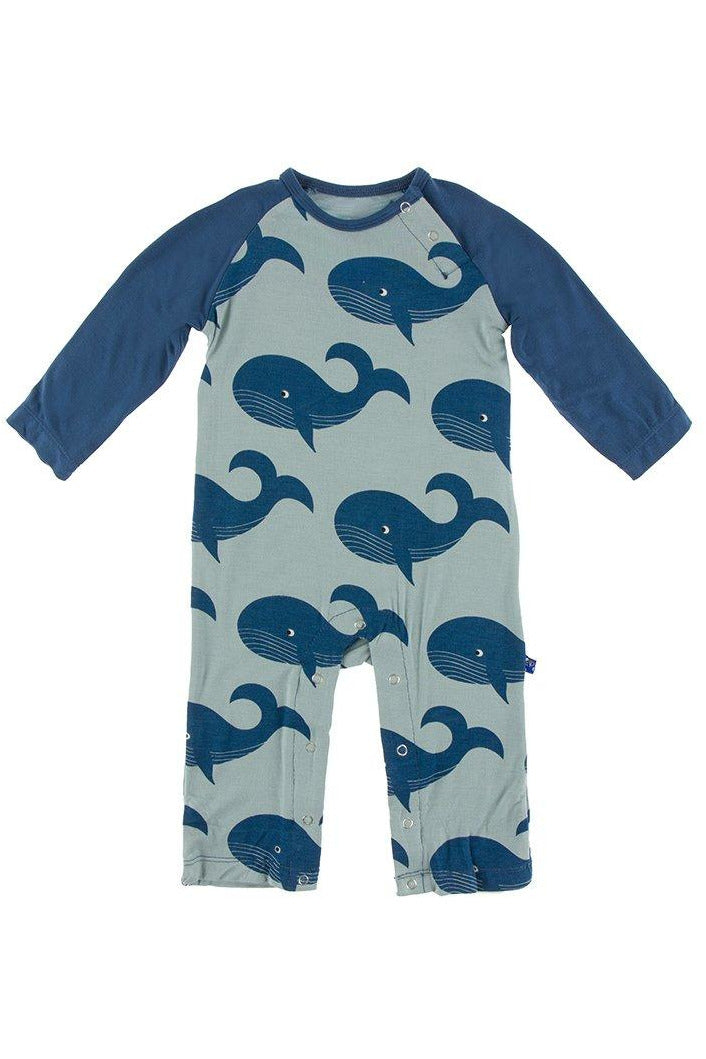 WHALES RAGLAN COVERALL