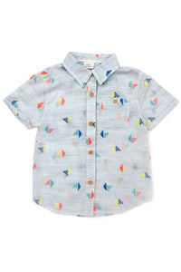 EMBROIDERED SAILBOATS BUTTONDOWN