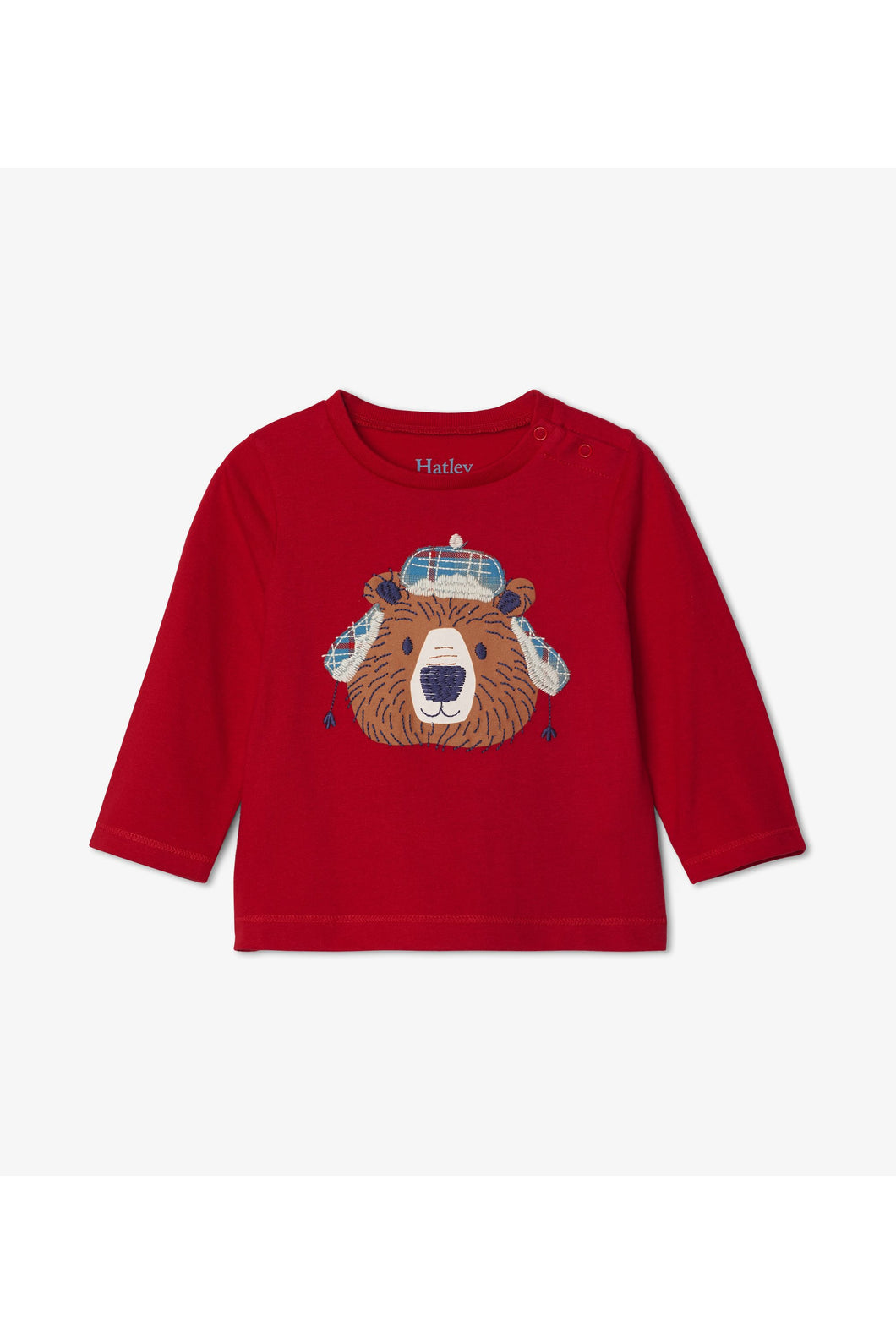 LS TRAPPER HAT BEAR TEE