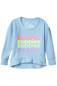 PUPPIES STACKED COZY SWEATSHIRT