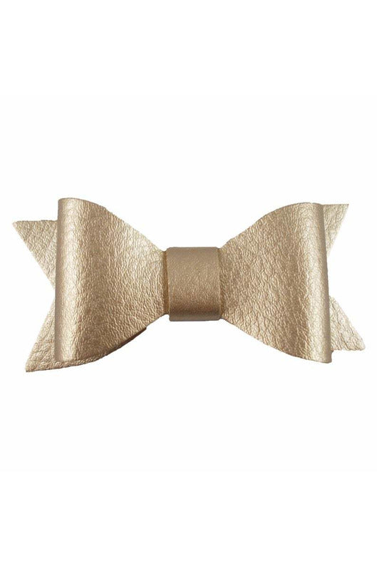 FAUX LEATHER BOW CLIP 3