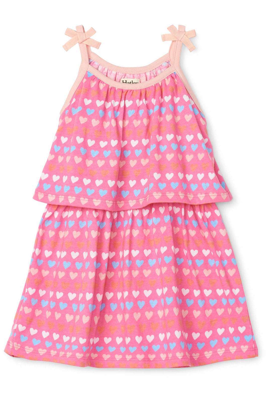TINY HEARTS LAYERED DRESS