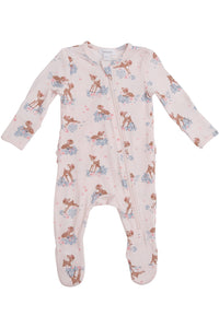 WOODLAND DEER RUFFLE FOOTIE