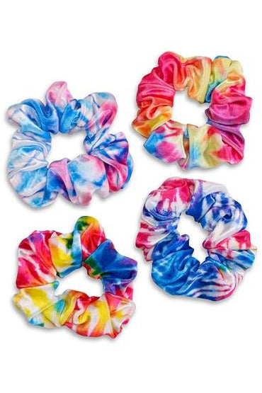 TIE DYE VELVET SCRUNCHIE (ASSORTED COLOR)