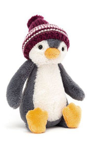 BASHFUL PENGUIN BOBBLE HAT ASSORTED