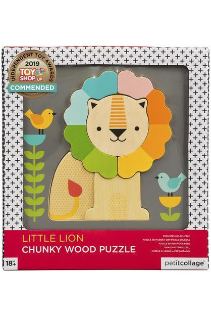 CHUNKY WOOD LION PUZZLE