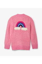 Load image into Gallery viewer, Rainbow Detail Fuzzy Shimmer Cardigan