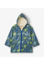 Load image into Gallery viewer, Sherpa Lined T-Rex Color Change Rain Jacket