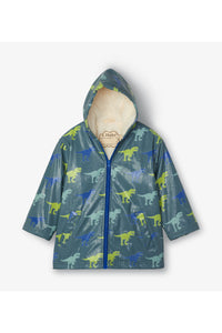 Sherpa Lined T-Rex Color Change Rain Jacket