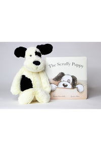 SCRUFFY PUPPY BOOK & MEDIUM STUFFIE