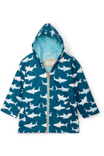 Load image into Gallery viewer, SHARKS COLOR CHANGE RAIN JACKET