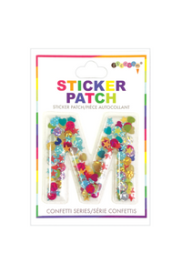 INITIAL CONFETTI STICKER PATCH *CLICK FOR INDIVIDUAL LETTERS*