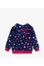 Load image into Gallery viewer, Confetti Hearts Fleece Jacket
