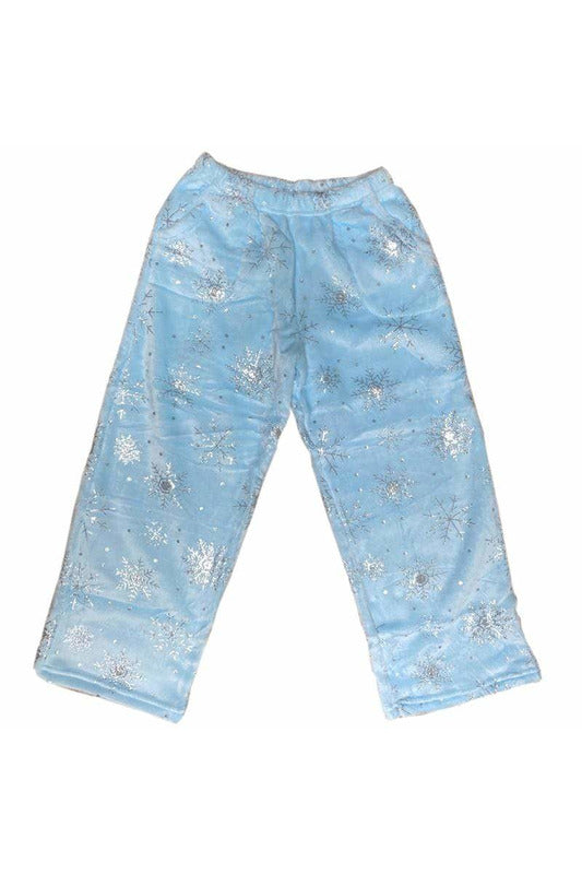 SNOWFLAKES FLEECE PANT
