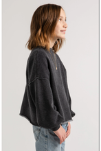 Load image into Gallery viewer, BALLOON SLEEVE CROP SWEATSHIRT