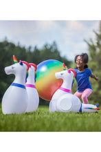 Load image into Gallery viewer, INFLATABLE UNICORN BOWLING