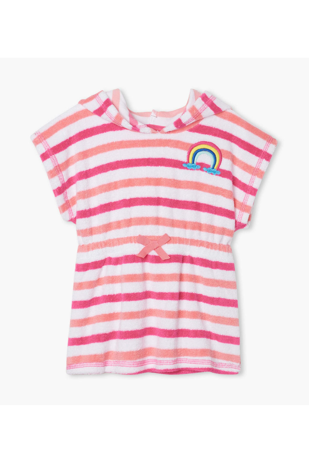 CAP SLEEVE BABY RAINBOW DETAIL TERRY COVER-UP