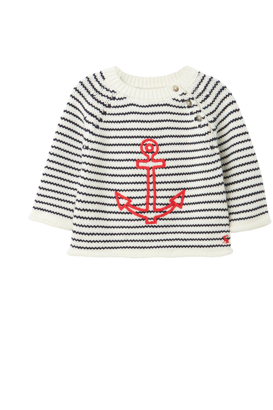 ANCHOR EMBROIDERED STRIPE SWEATER