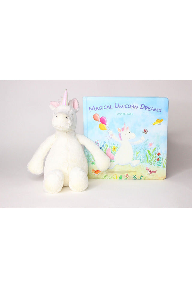 UNICORN BOOK & MEDIUM STUFFIE