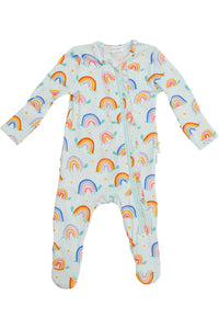 Rainbow Turtles Ruffle Footie
