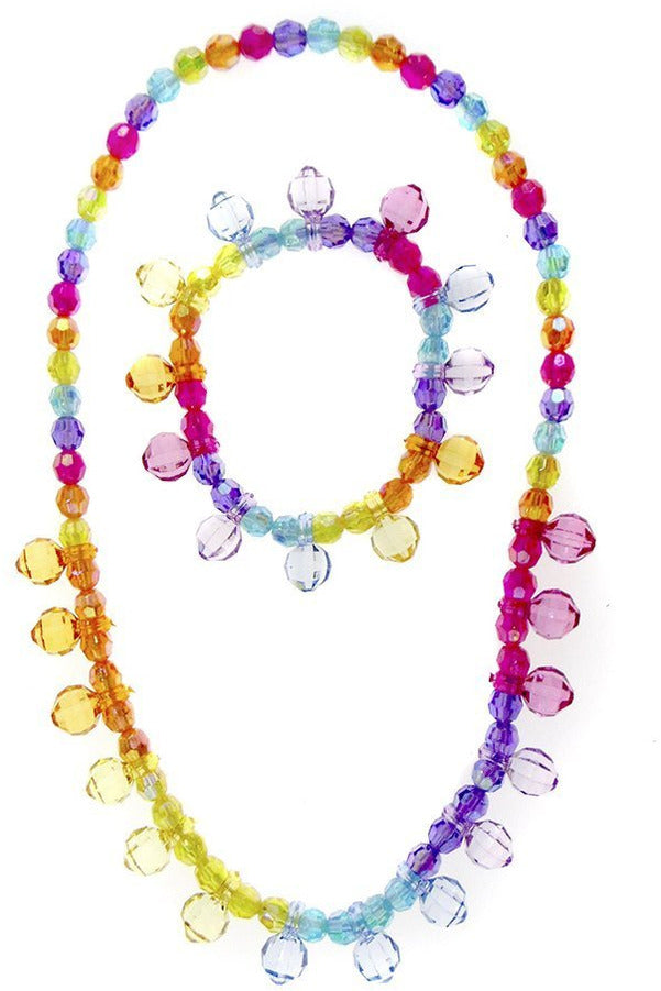 RAINBOW NECKLACE BRACELET SET