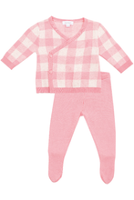 Load image into Gallery viewer, GINGHAM KNIT TAKE ME HOME SET