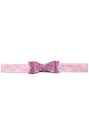 CRYSTAL BOW BABY HEADBAND - PINK