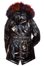 Load image into Gallery viewer, LS MIDDIE METALLIC PUFF COAT