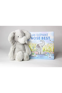 AN ELEPHANT NOSE BEST BOOK & MEDIUM STUFFIE