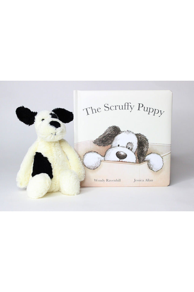 SCRUFFY PUPPY BOOK & SMALL STUFFIE