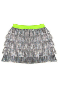 TIERRED TINSEL SKIRT