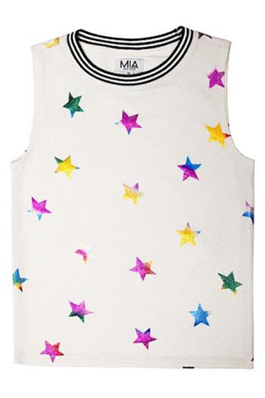 METALLIC STARS SPORTY TANK