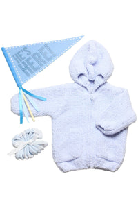 BABY BOY CHENILLE JACKET GIFT SET