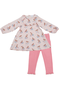 WOODLAND DEER DRESS & LEGGING SET