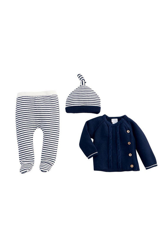 3 PC. STRIPE TAKE ME HOME SET