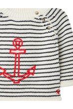 Load image into Gallery viewer, ANCHOR EMBROIDERED STRIPE SWEATER