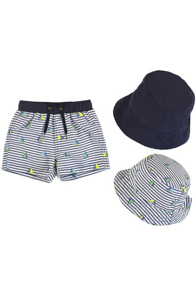SAILBOAT TRUNK & HAT SET