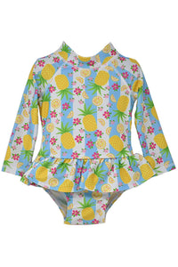 1PC INF LS PINEAPPLE PASSION RASH SUIT