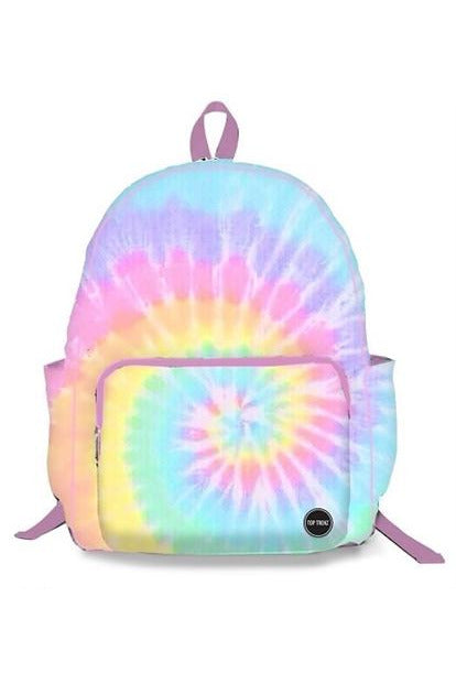 PASTEL TIE DYE CANVAS BACKPACK