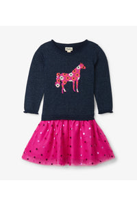 FLORAL HORSE TULLE DRESS