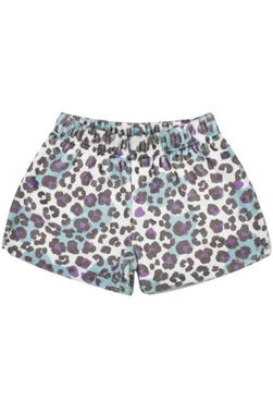 LEOPARD PRINT FLEECE SHORT