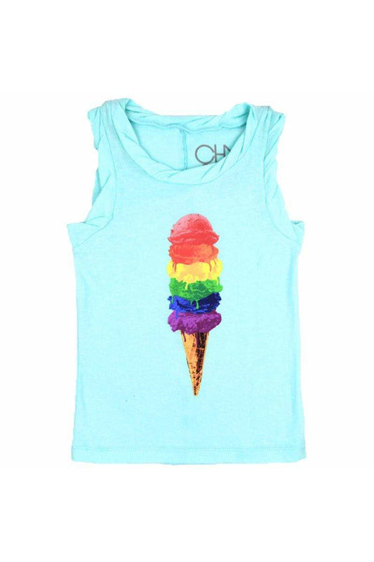 RAINBOW SCOOPS TWIST TRIM TANK