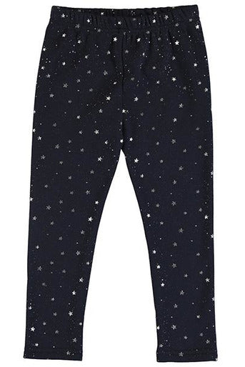 TOD MTLC STARS FUZZY LINED LEGGING